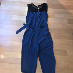 Blue and Black Jumpsuit